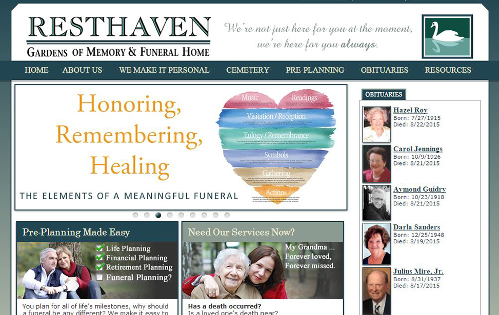 gemini graphics inc web mobile print funeral home service - Memory Gardens Funeral Home Corpus Christi Texas